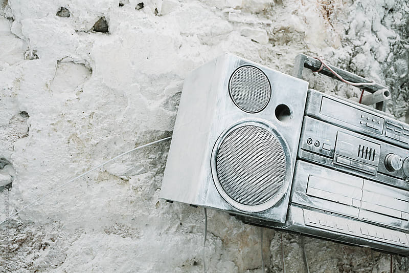 Marble dust boombox by Simonfocus for Stocksy United