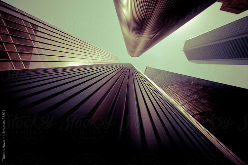 Looking UP Buildings in Houston, TX by Thomas Hawk for Stocksy United