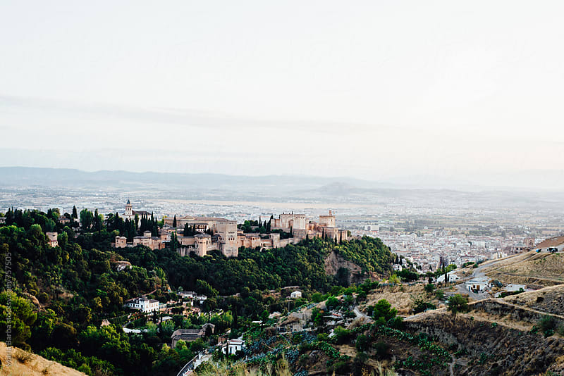 Cityscape with Alhambra's palace from San Miguel Alto (Spain) by María Barba for Stocksy United