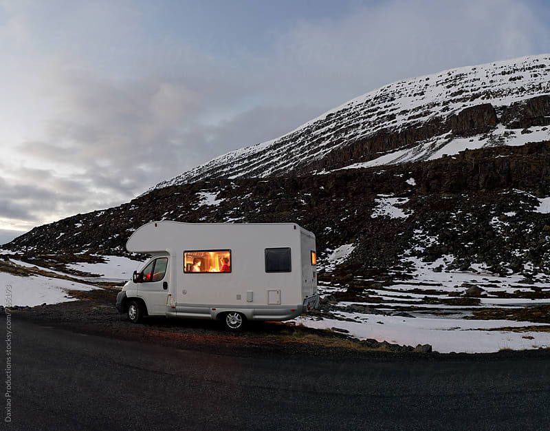 Campervan adventure in iceland by Daxiao Productions for Stocksy United