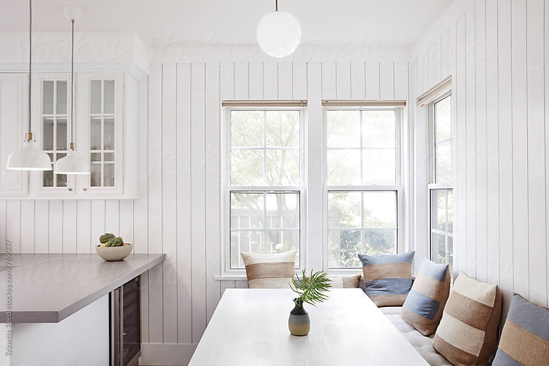 Breakfast Nook in Farmhouse Kitchen  by Trinette Reed for Stocksy United