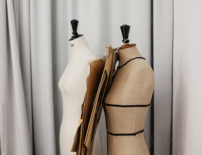 Mannequin body form bust in a fashion designer studio by W2 Photography for Stocksy United