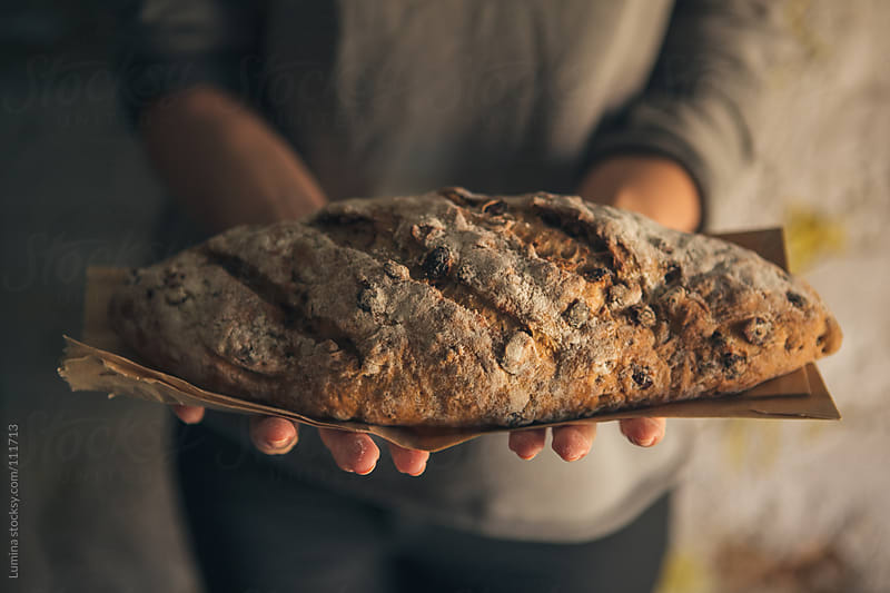 Home-Baked Raisin Bread by Lumina for Stocksy United