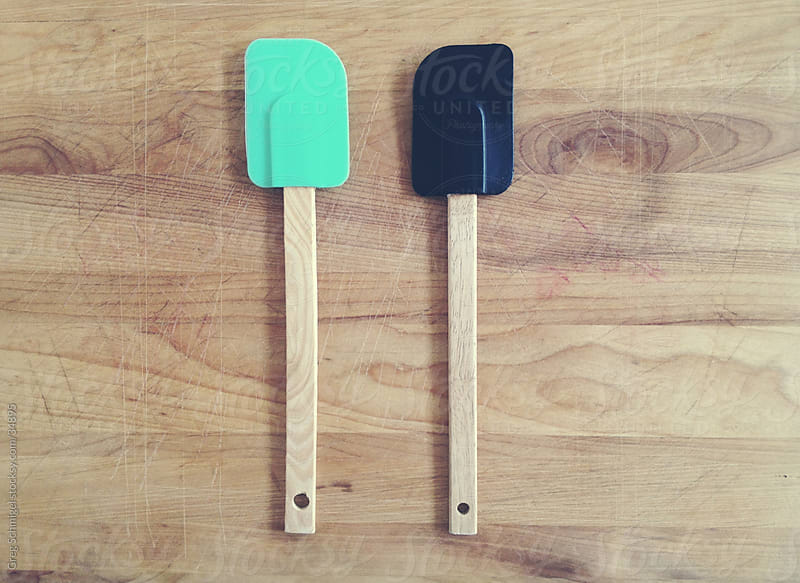 Baking kitchen spatula scrapers by Greg Schmigel for Stocksy United