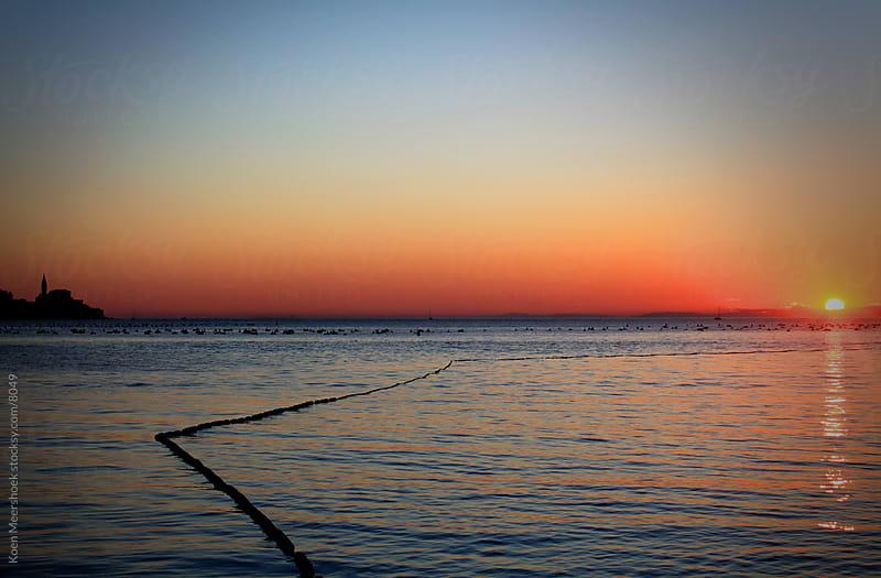 Colorful sunset in Slovenia by Koen Meershoek for Stocksy United
