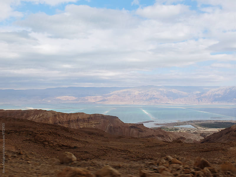 A view to the Dead Sea from the mountains by Anna Malgina for Stocksy United