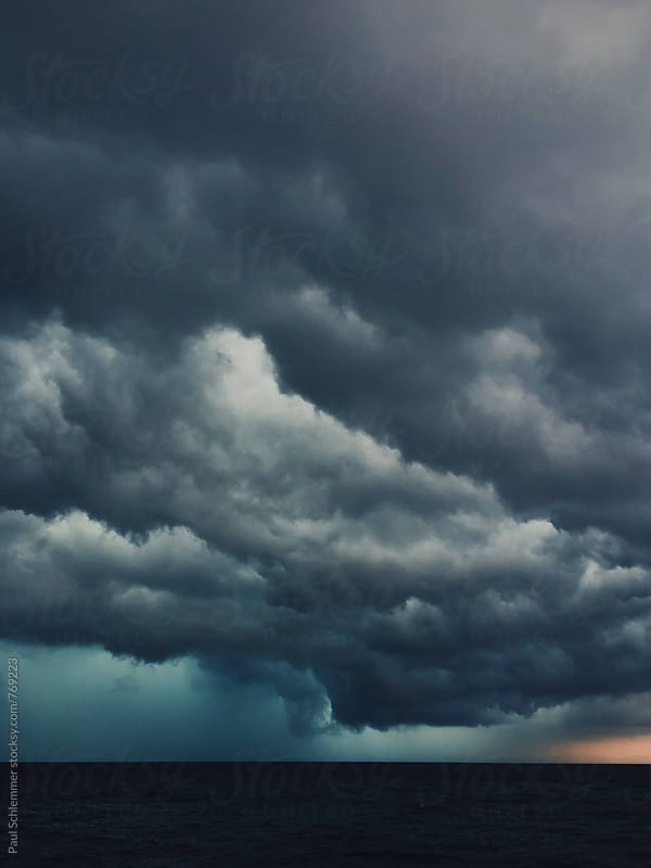 dramatic storm is dramatic by Paul Schlemmer for Stocksy United