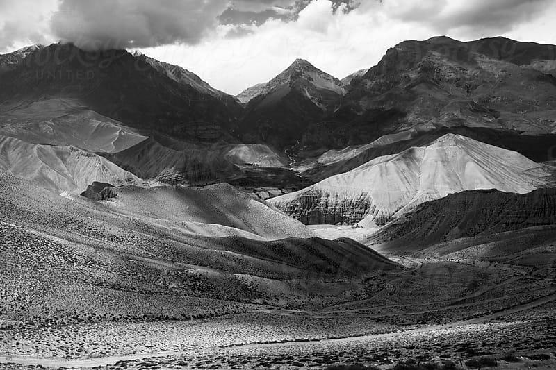 Landscape of Upper Mustang. by Shikhar Bhattarai for Stocksy United