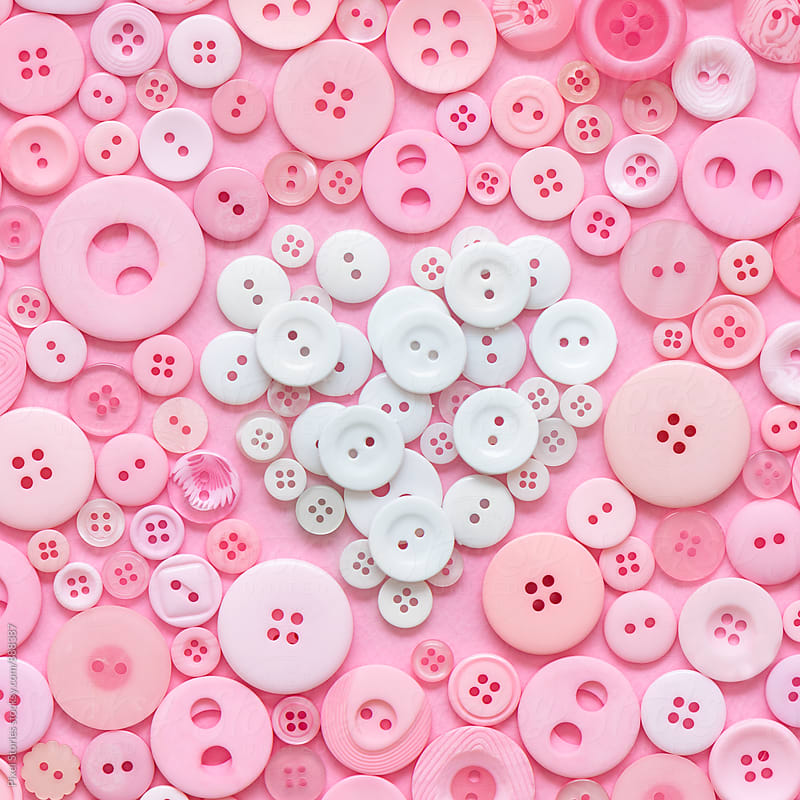 Heart buttons by Pixel Stories for Stocksy United