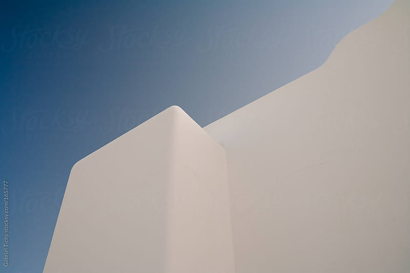 White minimalistc houses of Egypt by Gabriel Tichy for Stocksy United
