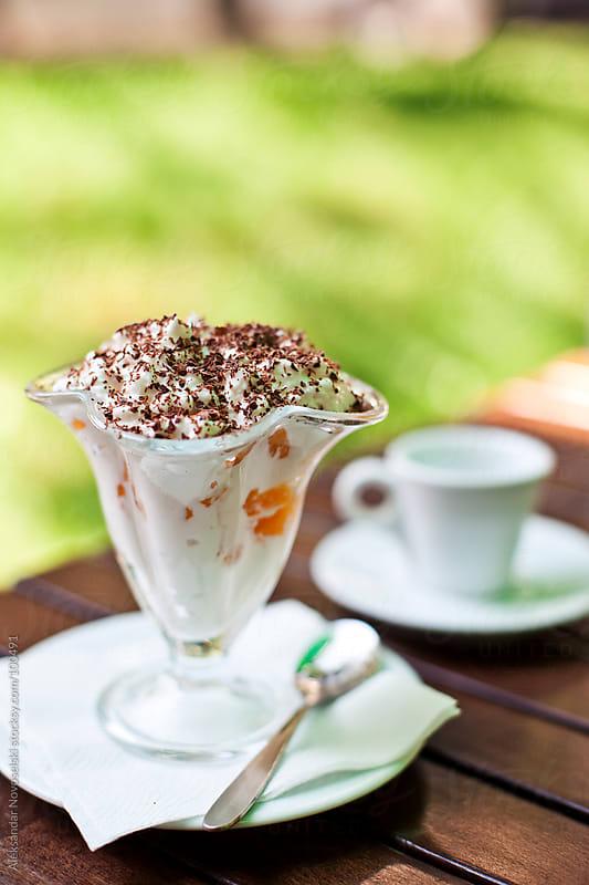 Dessert with mascarpone by Aleksandar Novoselski for Stocksy United