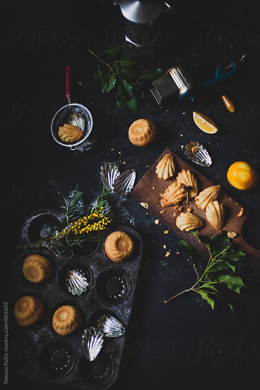 Freshly baked madeleines and mini bundt cakes by Natasa Kukic for Stocksy United