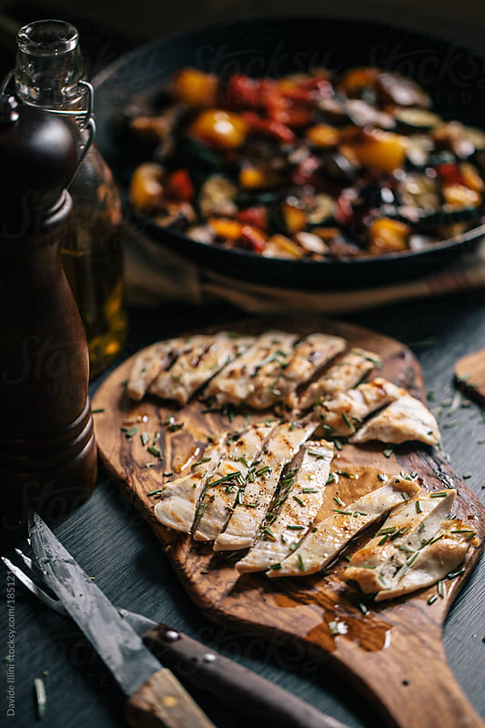 Grilled chicken steak by Davide Illini for Stocksy United