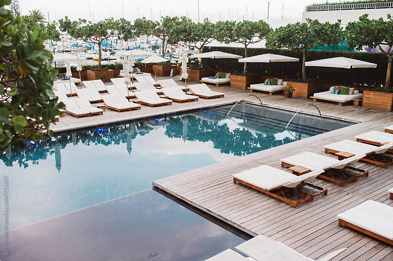 A view of the pool by Benj Haisch for Stocksy United