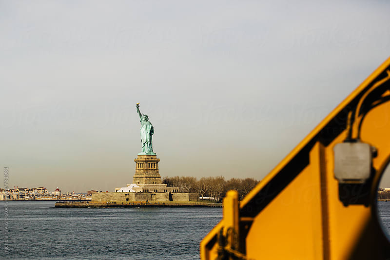 Statue of Liberty view from the ferry by michela ravasio for Stocksy United