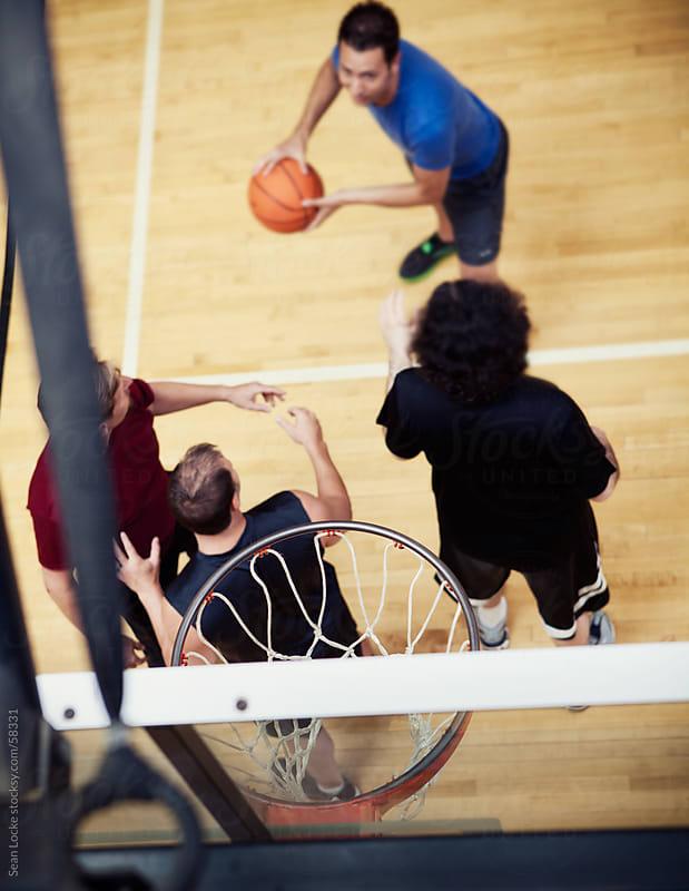 Gym: Focus on Basketball Rim by Sean Locke for Stocksy United