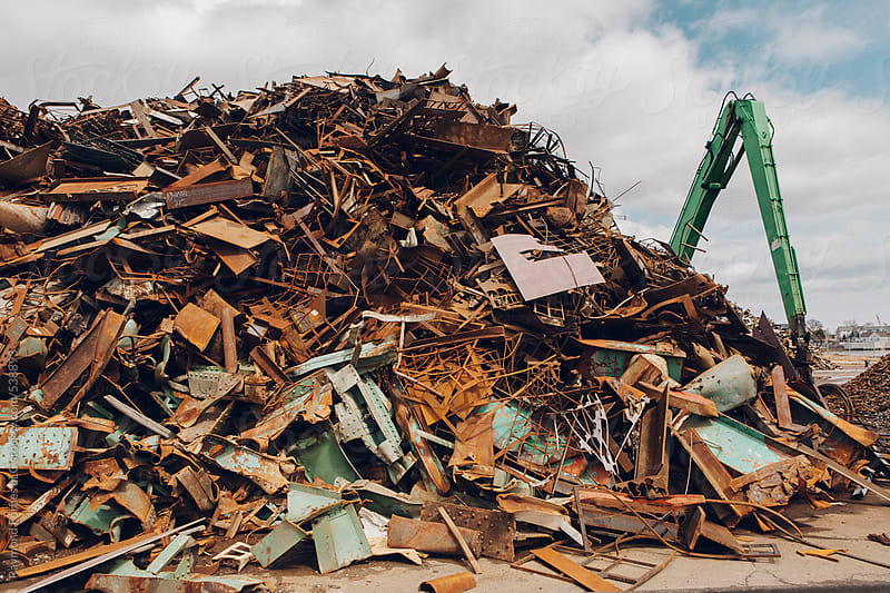 Scrap Metal Junkyard by Raymond Forbes LLC for Stocksy United