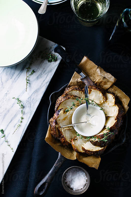 Roasted celeriac. by Darren Muir for Stocksy United