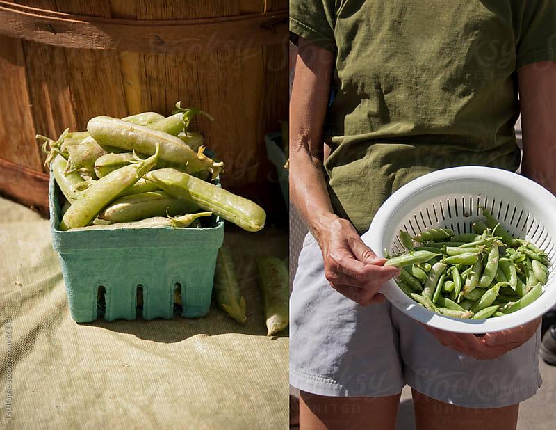 farmers market pea shoots by Tod Kapke for Stocksy United