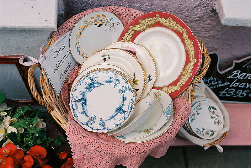 vintage plates for sale by Léa Jones for Stocksy United