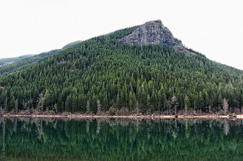 Rattlesnake Ridge Reflection by Eric Bowley for Stocksy United