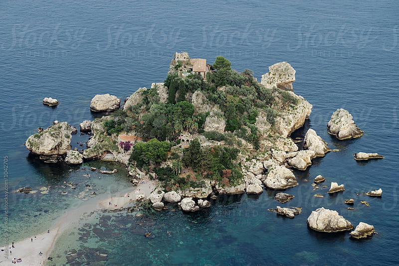 View of Isola Bella from Above by Aleksandra Jankovic for Stocksy United