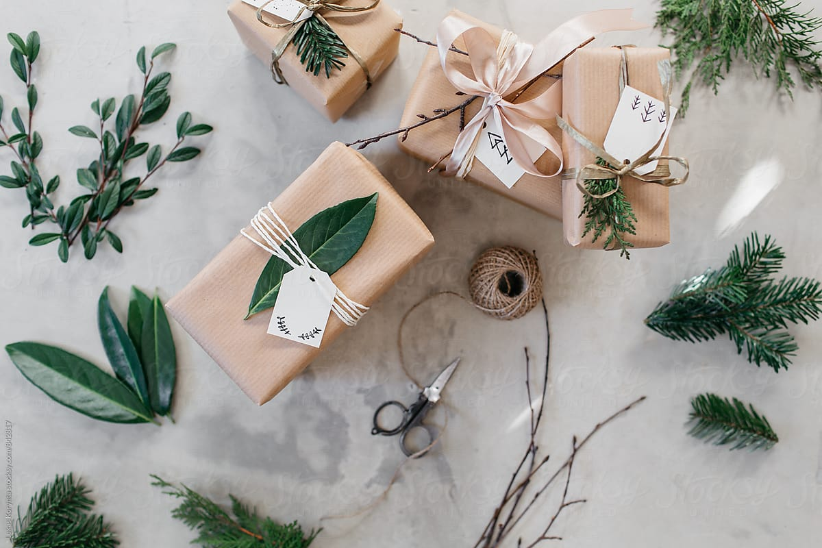 Wrapping Christmas Gifts | Stocksy United