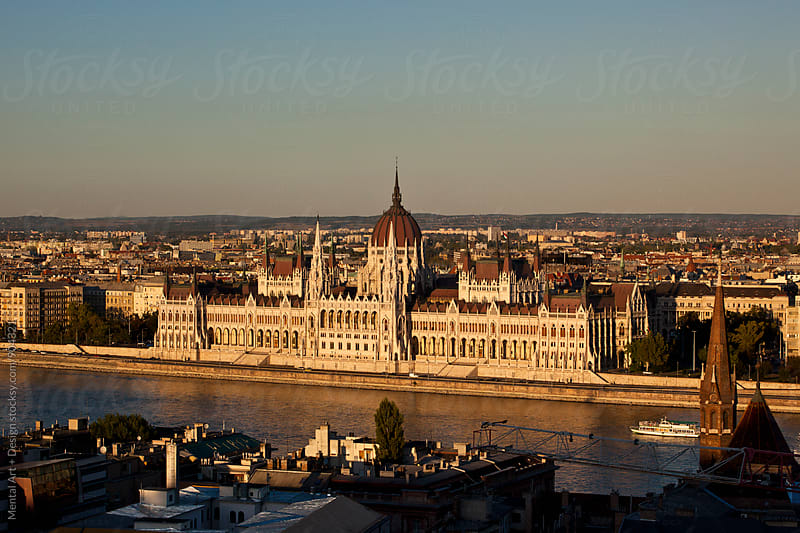 Budapest Skyline. by Mental Art + Design for Stocksy United