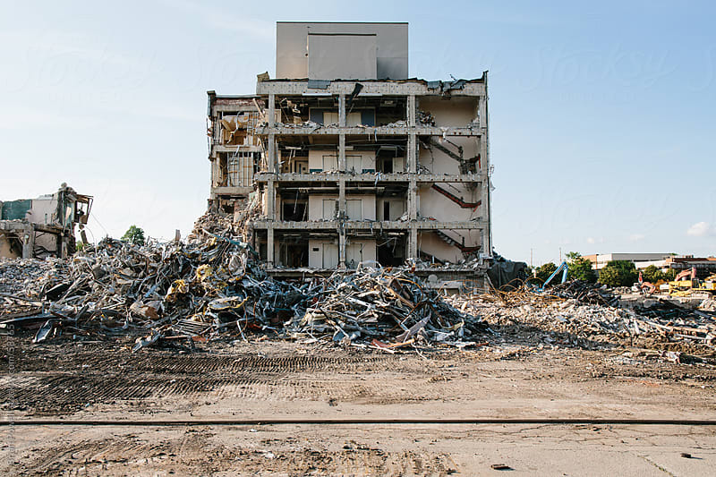 local hospital is demolished by Brian Powell for Stocksy United