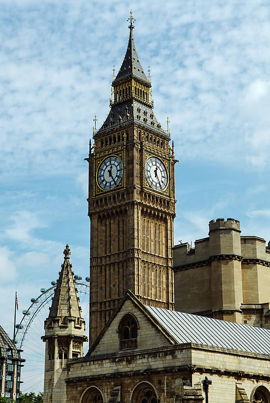 Big Ben behind the Palace of Westminster London. by kkgas for Stocksy United