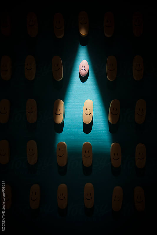 Unhappy pill. by RZ CREATIVE for Stocksy United