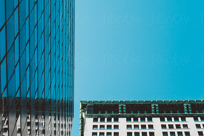 Glossy office tower and apartment building in New York City (NYC) by Lauren Naefe for Stocksy United