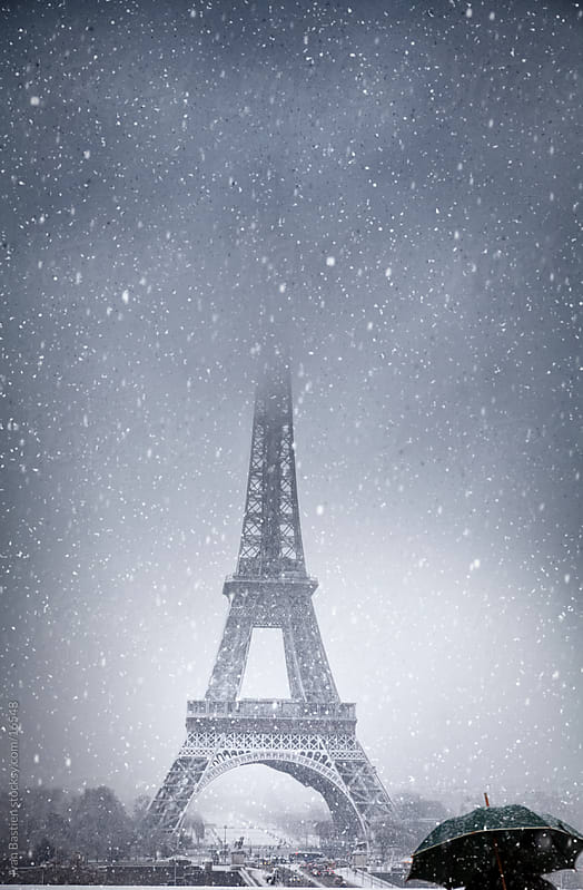 Blizzard in Paris by Ivan Bastien for Stocksy United
