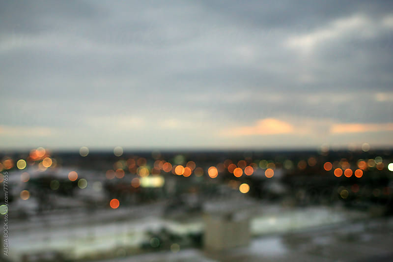 Abstract City Lights Of Detroit On A Winter's Night by ALICIA BOCK for Stocksy United