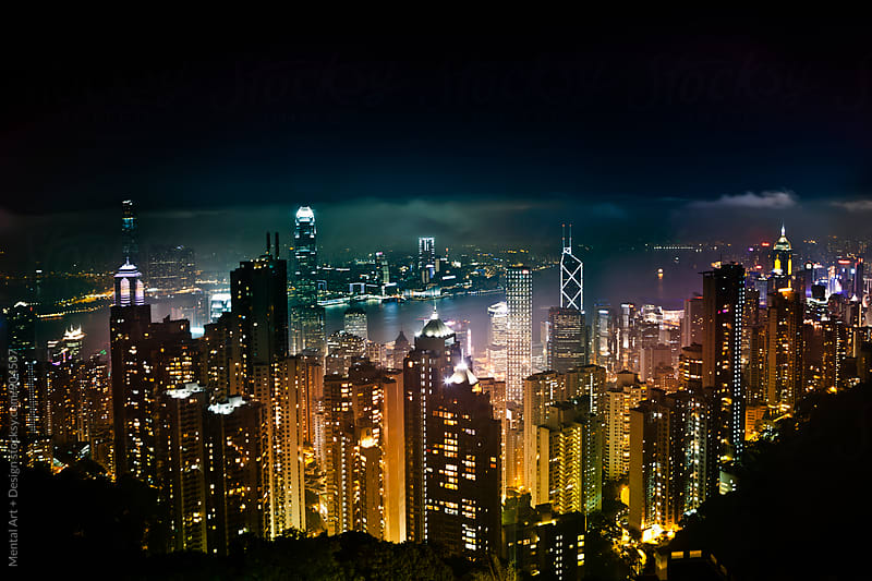 Hong Kong, China by Mental Art + Design for Stocksy United