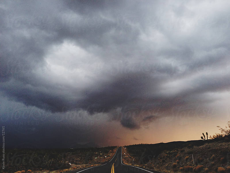 Driving Into Storm by Kevin Russ for Stocksy United