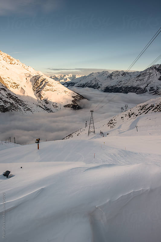 Mountains above Saas Fee by Peter Wey for Stocksy United