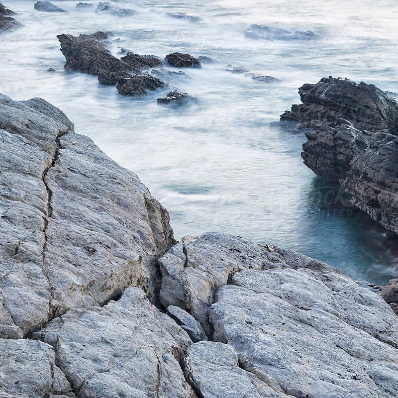 Rising tide on a rough coast by Marilar Irastorza for Stocksy United