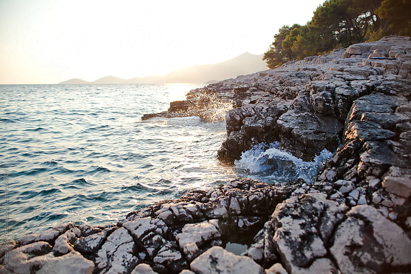 Rocky coastline landscape by Jelena Jojic Tomic for Stocksy United