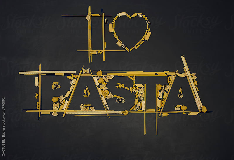 I love pasta by Blai Baules for Stocksy United