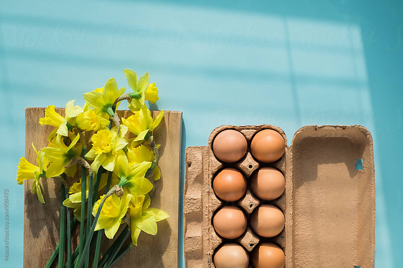 Eggs and Spring Flowers by Mosuno for Stocksy United