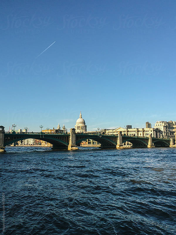 View across the river Thames towards Saint Paul's Cathedral, London by kkgas for Stocksy United