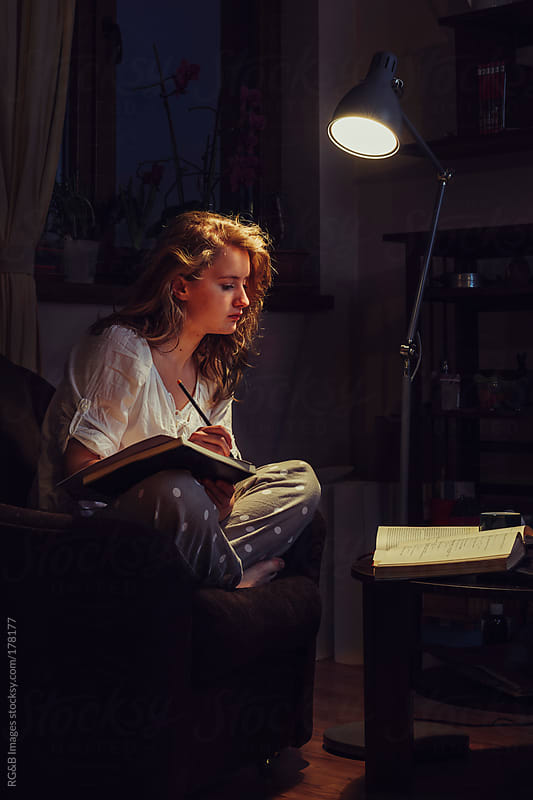Late night study  by RG&B Images for Stocksy United