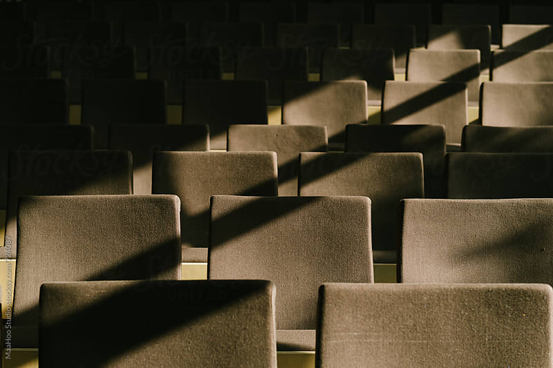 Detail Shot Of Chairs In Auditorium by Maa Hoo for Stocksy United
