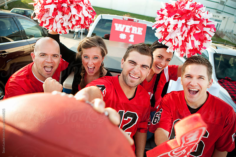 Tailgating: Fans Excited for Football Game by Sean Locke for Stocksy United
