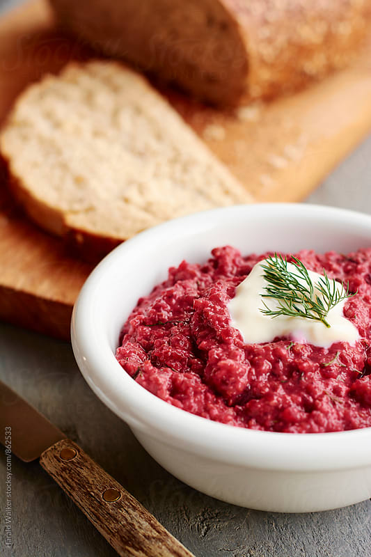 Lentil Borscht Spread by Harald Walker for Stocksy United