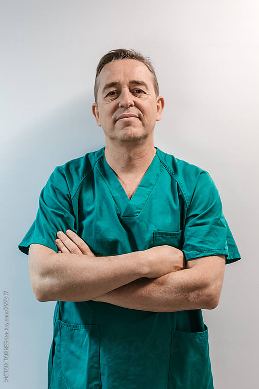 Portrait of a Senior Surgeon by VICTOR TORRES for Stocksy United