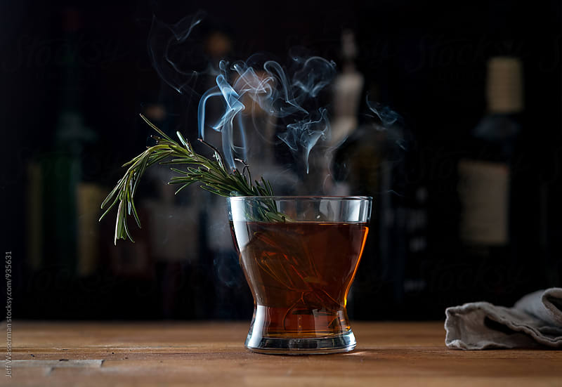 Smoked Whiskey Cocktail by Jeff Wasserman for Stocksy United
