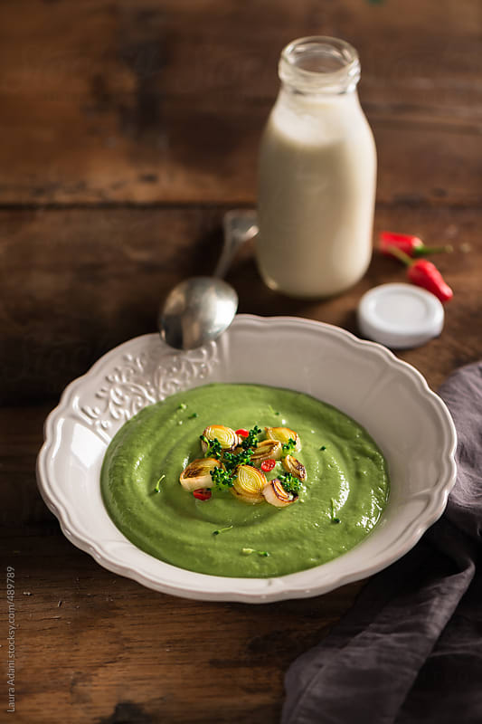 Creamy broccoli soup by Laura Adani for Stocksy United