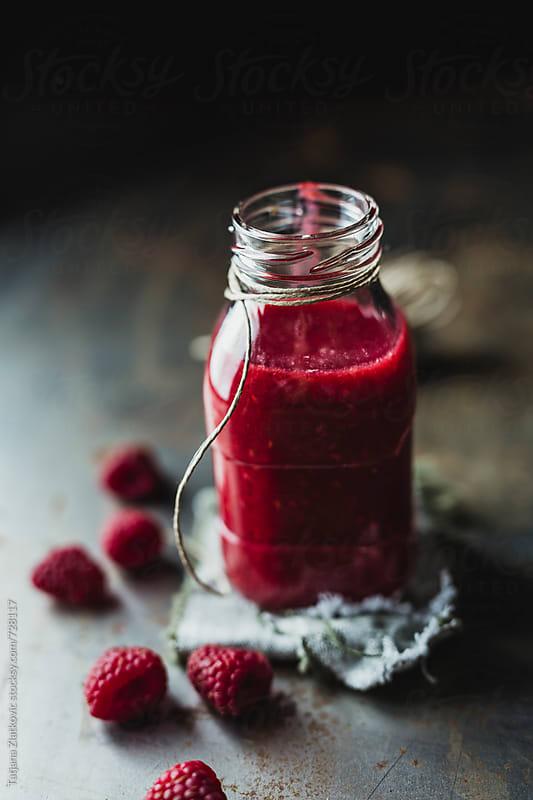 Raspberry smoothie by Tatjana Zlatkovic for Stocksy United
